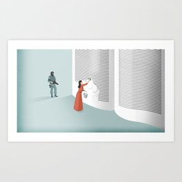 Banned From Literacy Art Print