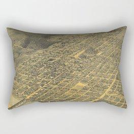 Vintage Pictorial Map of Austin Texas (1887) Rectangular Pillow