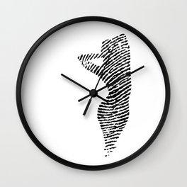 Fingerprint Silhouette Portrait No.2 Wall Clock