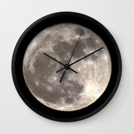 Can you see the man in the Moon smiling at us? Wall Clock