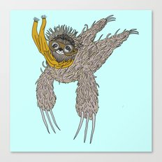 Impulsive Sloth Canvas Print