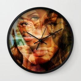 faces of Angelina Jolie3 Wall Clock