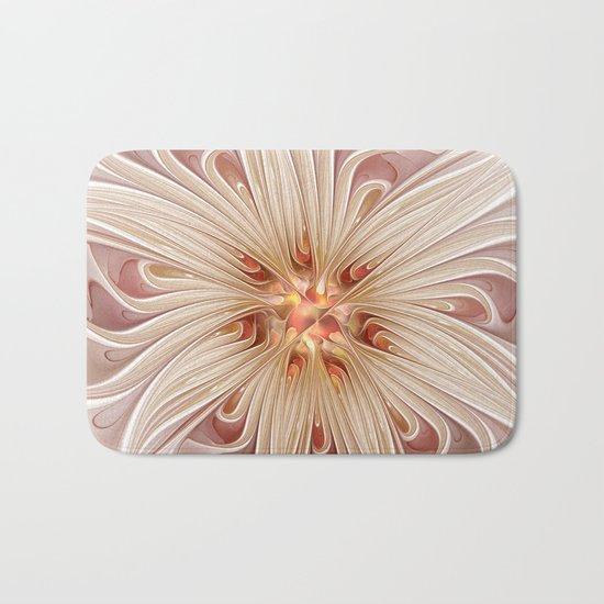 A floral Beauty, abstract Fractal Art Bath Mat