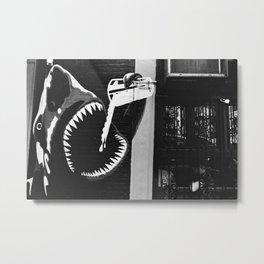 Shark Street Art // NYC Metal Print