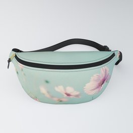 Pink Aqua Blue Flower Photography, Teal Floral Nature Photo, Turquoise Nursery Botanical Picture Fanny Pack