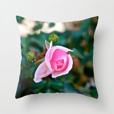 Pink Kiss Throw Pillow