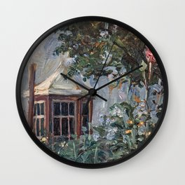 Flower Garden, by Egon Schiele Wall Clock
