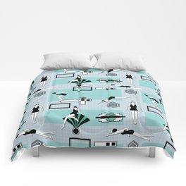 Art Deco Swimmers Comforters