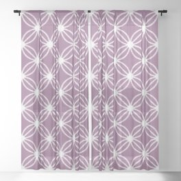 Abstract Circle Dots Purple Sheer Curtain