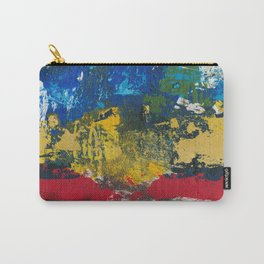 Lucas Abstract Painting Blue Black Yellow Carry-All Pouch
