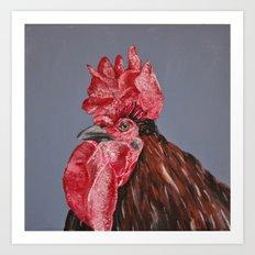 Rude Rooster Art Print