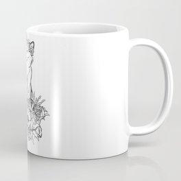 Flower Cat Coffee Mug