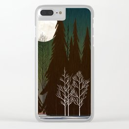 Into The Cold Winter Woods Clear iPhone Case
