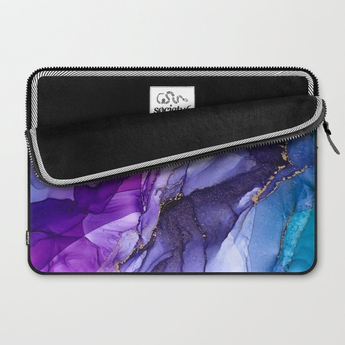 Abstract Vibrant Rainbow Ombre Laptop Sleeve