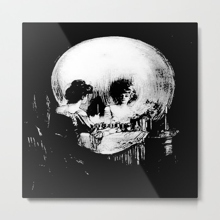 All Is Vanity: Halloween Life, Death, and Existence Metal Print
