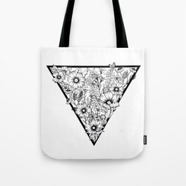 Triangle flowers Tote Bag