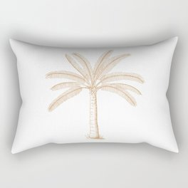 Palm Tree Sketch Tan Rectangular Pillow