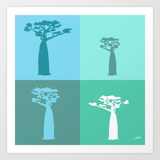 Baobab Azure Art Print