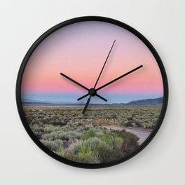 Dreamy Desert Road Wall Clock