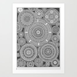 Mandala-madness Art Print