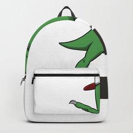 Dabbing T-Rex Backpack