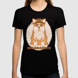 Incorgnito print Funny Vintage Corgi Lover Dog Pun Gift T-shirt