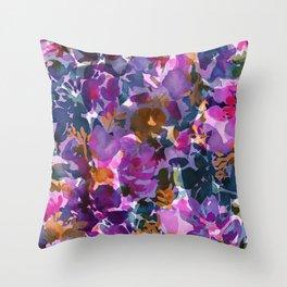 Shadow Rose Throw Pillow