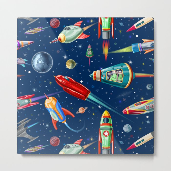 rockets in traffic Metal Print