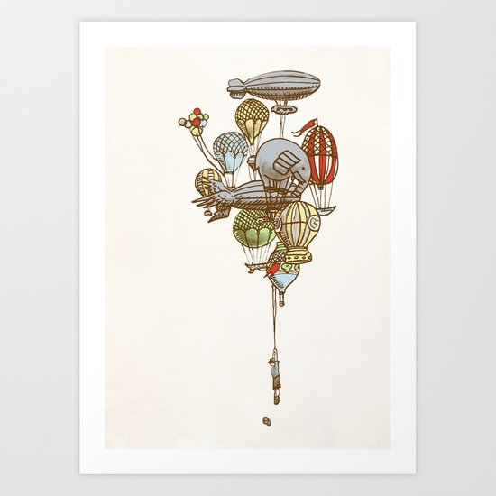 The Great Balloon Adventure Art Print