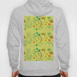 Cat in the garden - Pattern Hoody