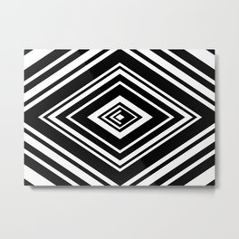 SCORN BLACK AND WHITE Metal Print