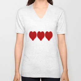 Love hearts 2 Unisex V-Neck