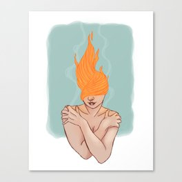 Your head caught flame Canvas Print