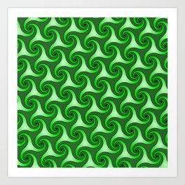 Spiral Triskeles Art Print