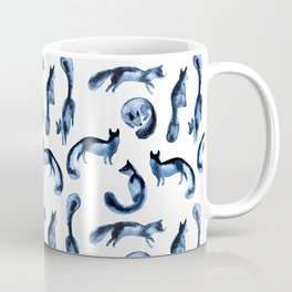 A pack of silver foxes. Coffee Mug