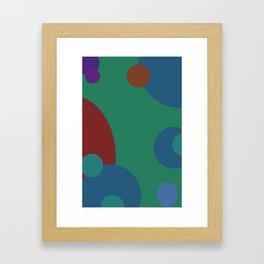 circles abstract Framed Art Print