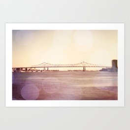 Greater New Orleans Bridge over the Mississippi Art Print