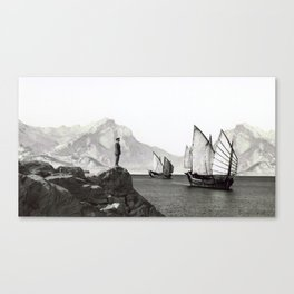 Visitors in the Bay Canvas Print