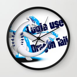 Lugia use Dragon Tail - white vrs. Wall Clock