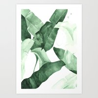watercolour Art Prints featuring Beverly II by THE AESTATE