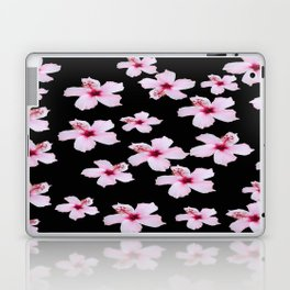 Tropical in black and pink Laptop & iPad Skin