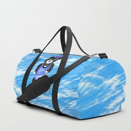 Skating bear Duffle Bag
