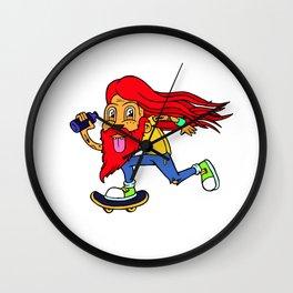 Skate Lad Wall Clock
