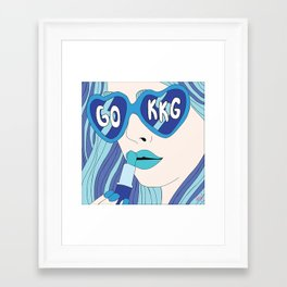 Blue and Blue Looks Good on You Framed Art Print