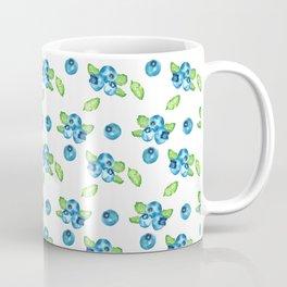 Blueberry Watercolour Pattern Coffee Mug
