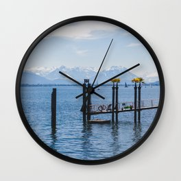 Bodensee and Alp Mountains Wall Clock