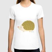 hedgehog T-shirts featuring Hedgehog by Maria Ángeles Aznar Medina (Nenya-Art)