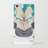 vegeta iPhone & iPod Cases featuring Vegeta Portrait Painting by ADCArtAttack