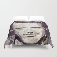 actor Duvet Covers featuring Idols - Cary Grant by Fernando Vieira