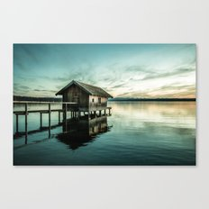 The house at the lake Canvas Print